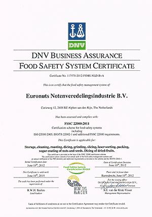 FSSC-Certificaat